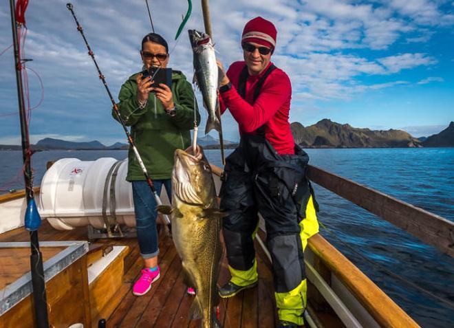 Туристическая рыбалка на треску