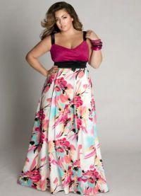 Дуга хаљина за гојазне жене 2