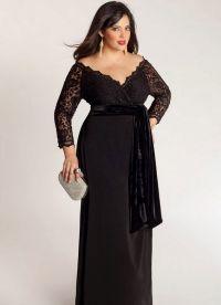 Дугачке хаљине за гојазне жене 8