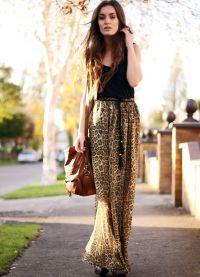 długa spódniczka z lamparta z tym, co należy nosić 3