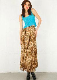 długa spódniczka z lamparta z tym, co można nosić 6