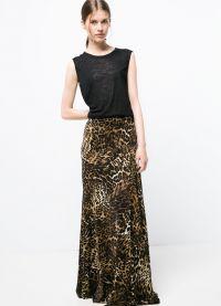 długa spódniczka z lamparta z tym, w co się ubrać 9