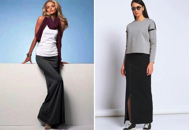 stylowe długie spódnice