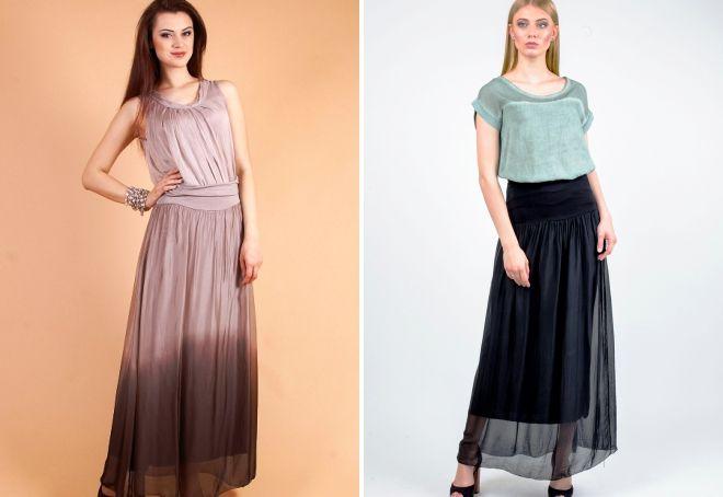 w co nosić długą spódnicę