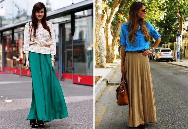 długie spódnice z plisami
