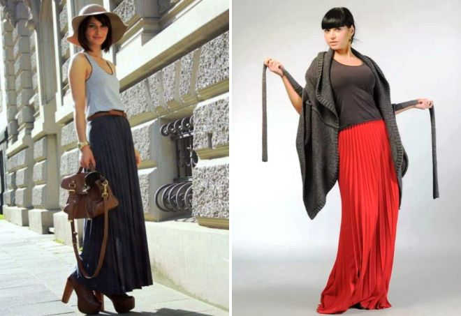 modne długie spódnice