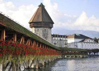Водонапорная башня и мост Капелльбрюкке