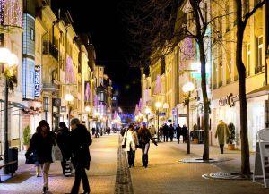 Улица Grand Rue в Люксембурге - центр шоппинга