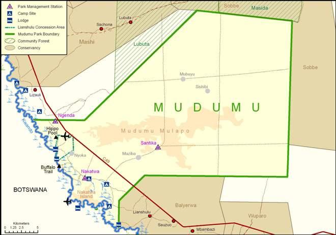 Парк Мадуму на карте