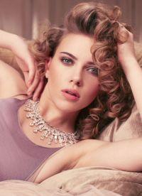 Šminka, stil, slika Scarlett Johansson 4