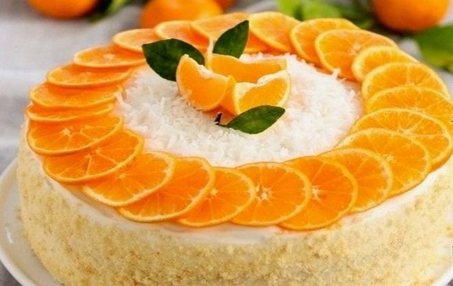 Како украсити домаћу торту са мандаринама