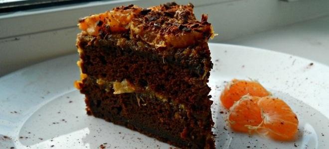 торта са тангерини и чоколадом