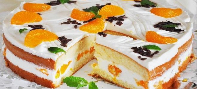 торта с тангерини