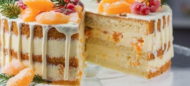 торта без печења са тангерини