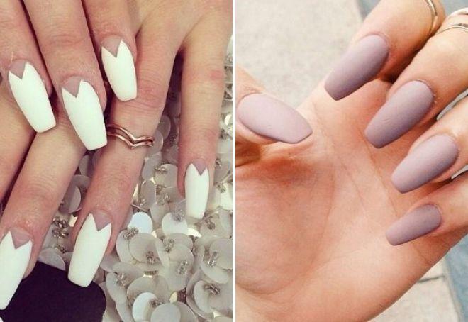 матовый дизайн ногтей осень 2017