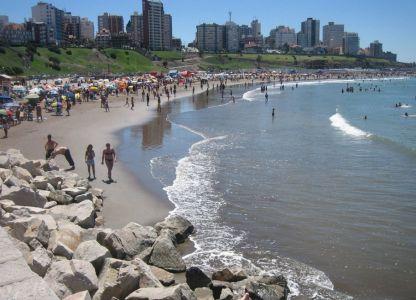 На одном из городских пляжей