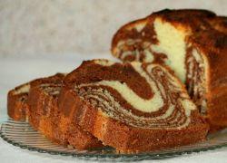 marmurowy tort na skondensowanym mleku