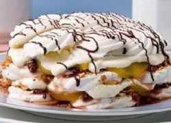 Ciasto z owocami Marshmallow