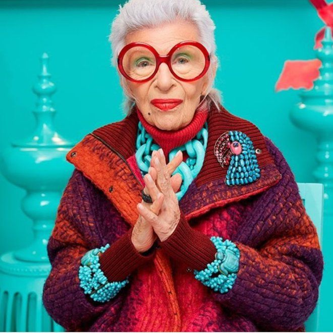 96-летняя Айрис Апфель теперь кукла