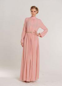 Maxi šaty s dlouhými rukávy 1