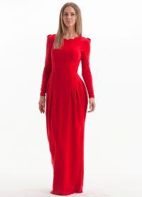 Maxi šaty s dlouhými rukávy 4
