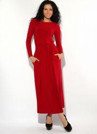 Maxi šaty s dlouhými rukávy 5