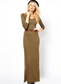 Maxi šaty s dlouhými rukávy 8