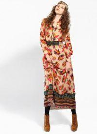 Maxi šaty s dlouhými rukávy 9