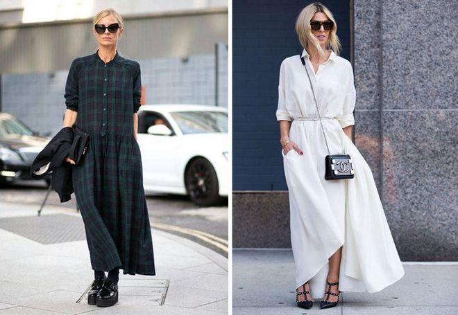 С чем носить платье макси