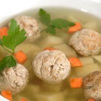 juha z mesnimi kroglicami za otroke