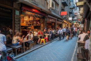 Уличные кафе Мельбурна