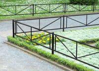 metalowe ogrodzenie trawnika 1