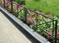 metalowe ogrodzenie trawnika 8