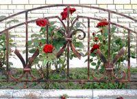 metalowe ogrodzenie trawnika 9