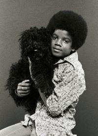 Майкл Джексон с собакой