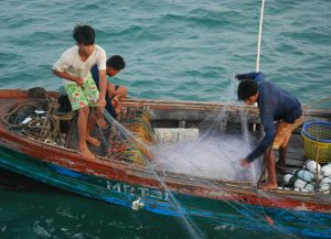 Ловля рыбы на лодках