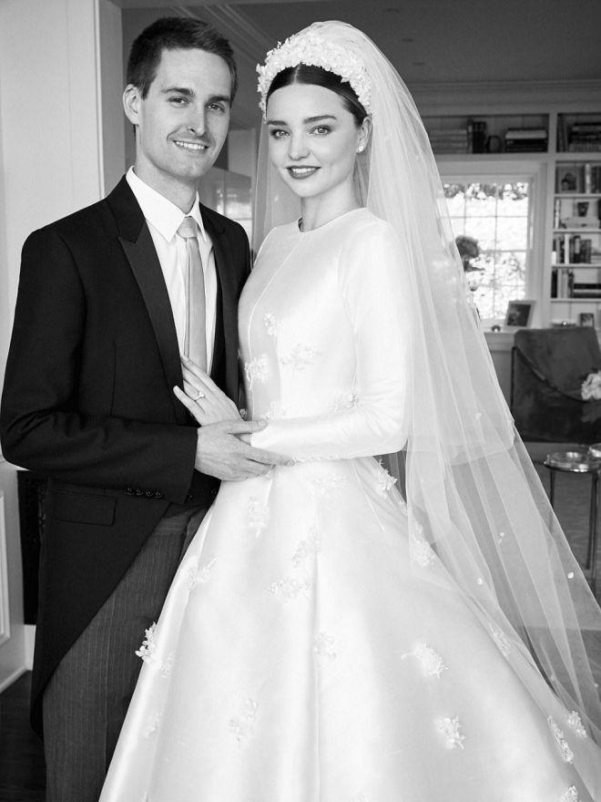 Свадебные фото Миранды Керр и Эвана Шпигеля
