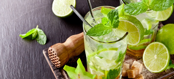 alkoholni mojito doma na recept
