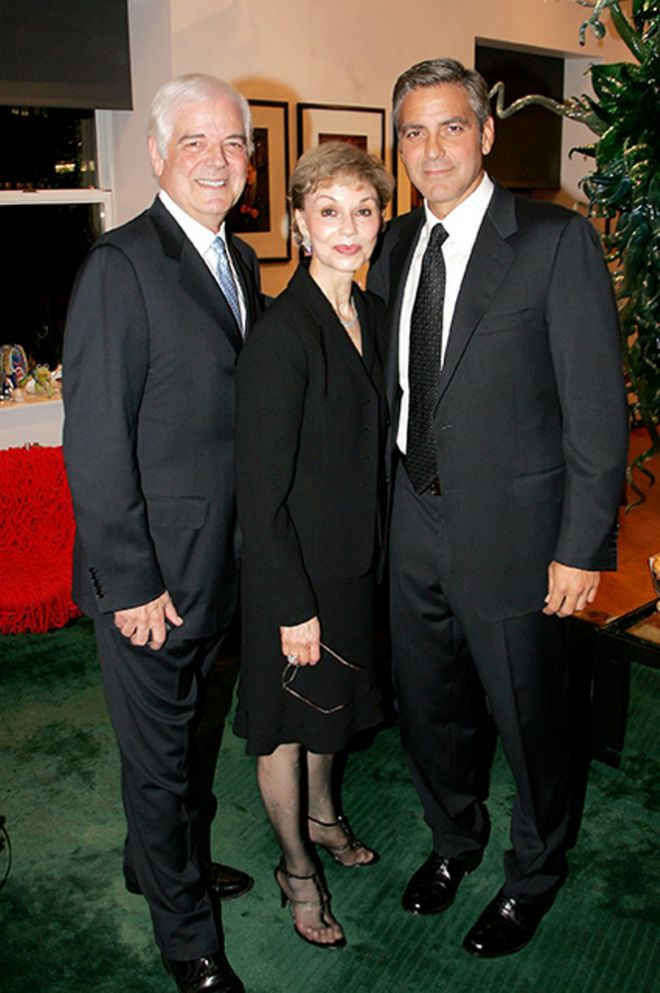 Джордж Клуни с родителями - папой Ником и мамой Ниной