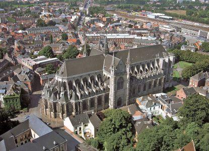Церковь Святой Вальдетруды с высоты