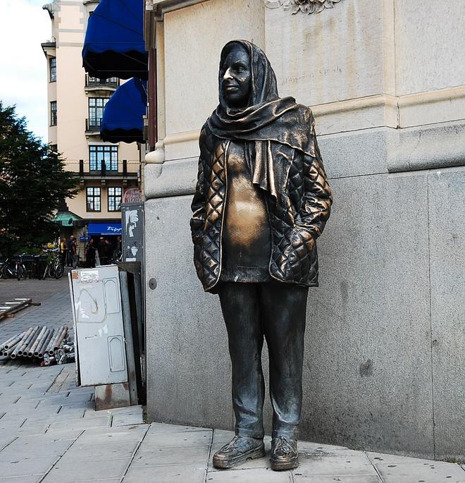 Памятник актрисе Margaretha Krook
