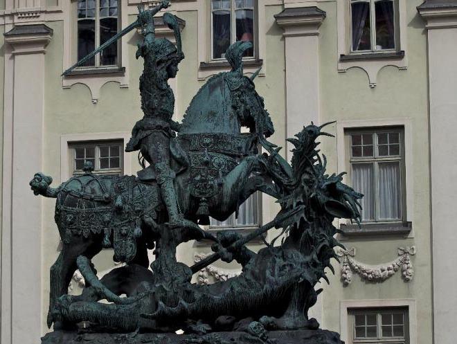 Памятник Святой Георгий и Дракон