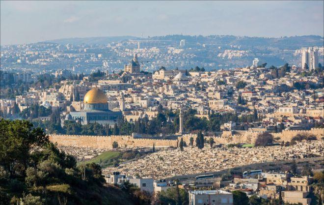 Вид с горы на Иерусалим