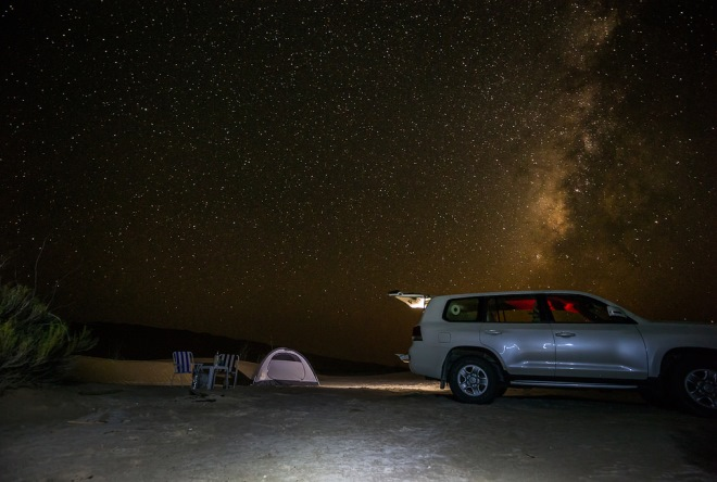 Ночевка в горах Омана