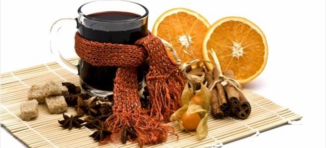запечено вино с портокал и канела