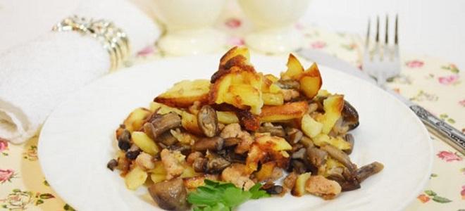 Пржени кромпир са куваним печуркама