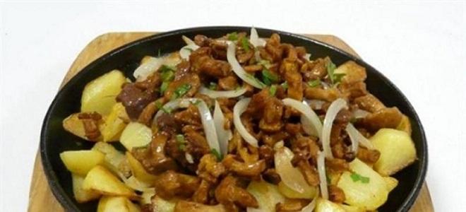 Како сипати печурке с кромпиром и луком