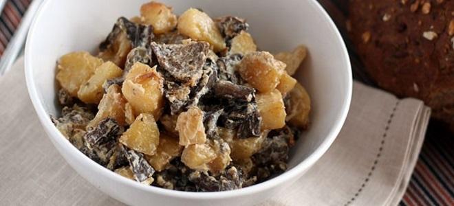 Како кувати печурке с кромпиром и павлаку