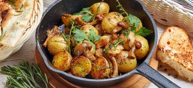 Пржени кромпир са киселим печуркама
