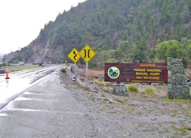 Дорога к парку Науэль-Уапи
